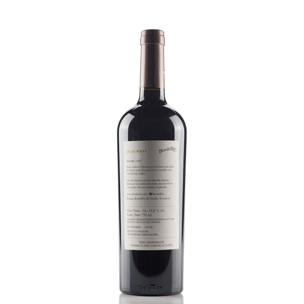 Vino BordeRío Injusto Malbec 2017