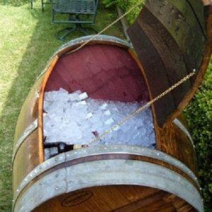 Barricas usadas para reciclar