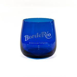 Vaso degustación de aceite cristal color azul.